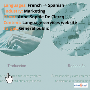 Website for French translation services