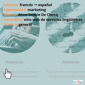 Traducción al francés_sitio web