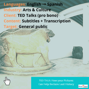 TED Talk about cultural heritage