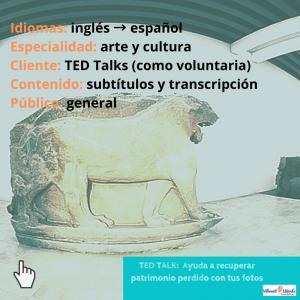 TED Talk sobre patrimonio destruido